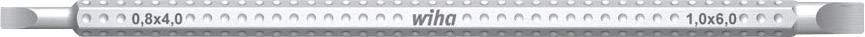 Kombinovaný bit drážková Wiha System 6, 4,0/6,0 mm (00629)