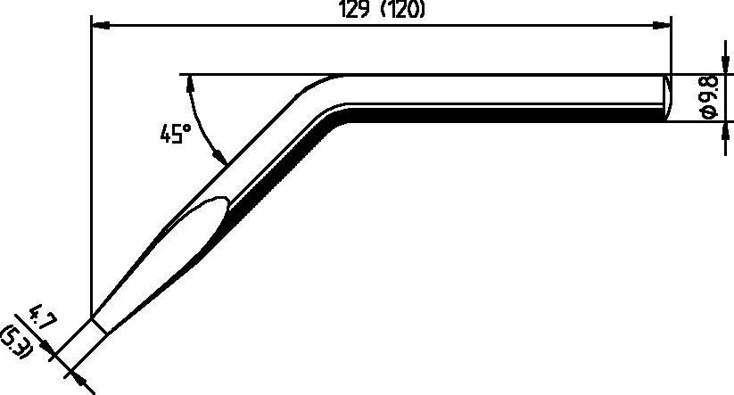 Spájkovací hrot dlátová forma, zahnutá, ERSADUR Ersa 152JD, velikost hrotu 5.3 mm, 1 ks