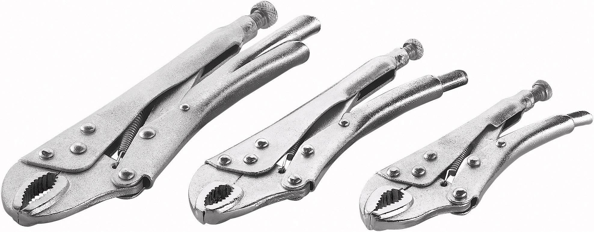 Sada samosvorných kleští Basetech, 140 - 220 mm, 3 ks