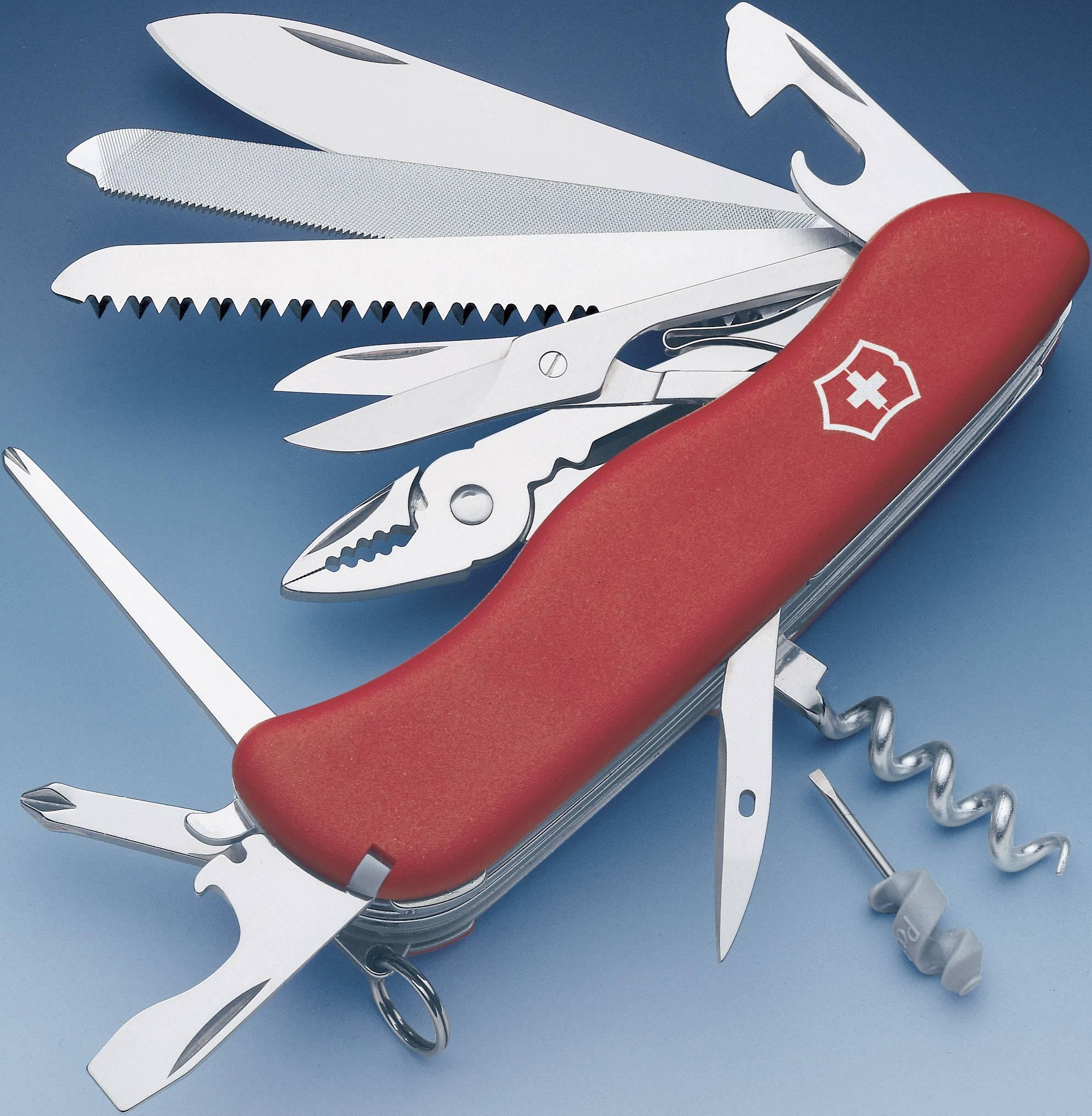 Švajčiarsky vreckový nožík Victorinox WorkChamp 0.9064, červená