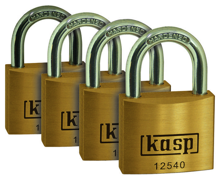 Visiace zámky KASP, 40 mm, séria 125 K12540D4, 4ks