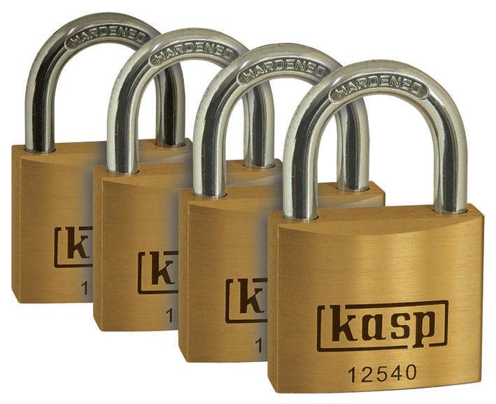 Visiaci zámok na kľúč Kasp K12520D4, 20 mm, zlatožltá