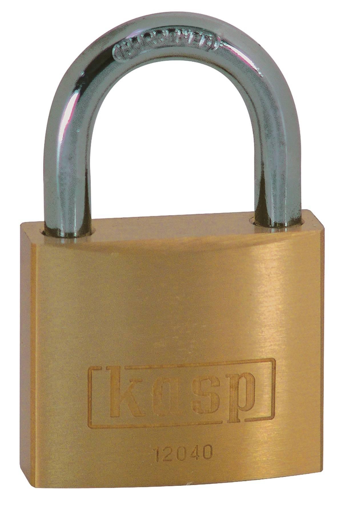 Visiaci zámok na kľúč Kasp K12030A1, 30 mm, zlatožltá