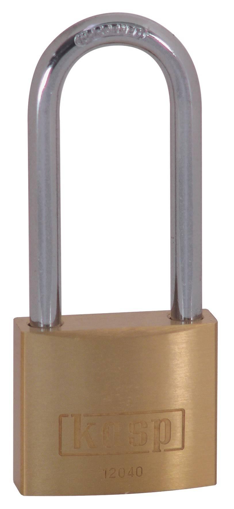 Visiaci zámok na kľúč Kasp K12040L55A1, 40 mm, zlatožltá