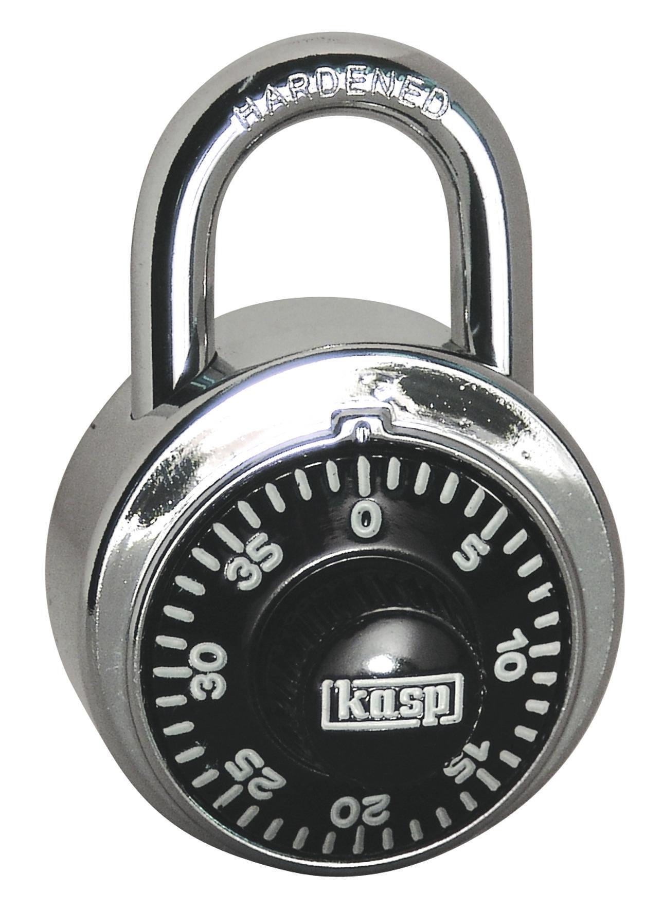Visací zámek na heslo Kasp K11548D, 48 mm, stříbrná