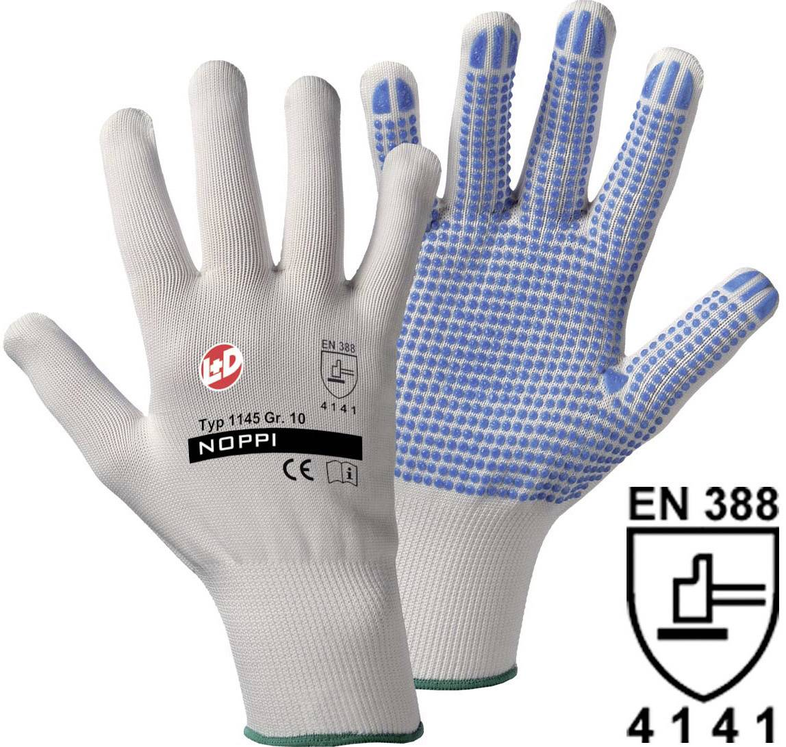 Pracovní rukavice Worky Noppi, 1145, jemně pletené, vel. 7