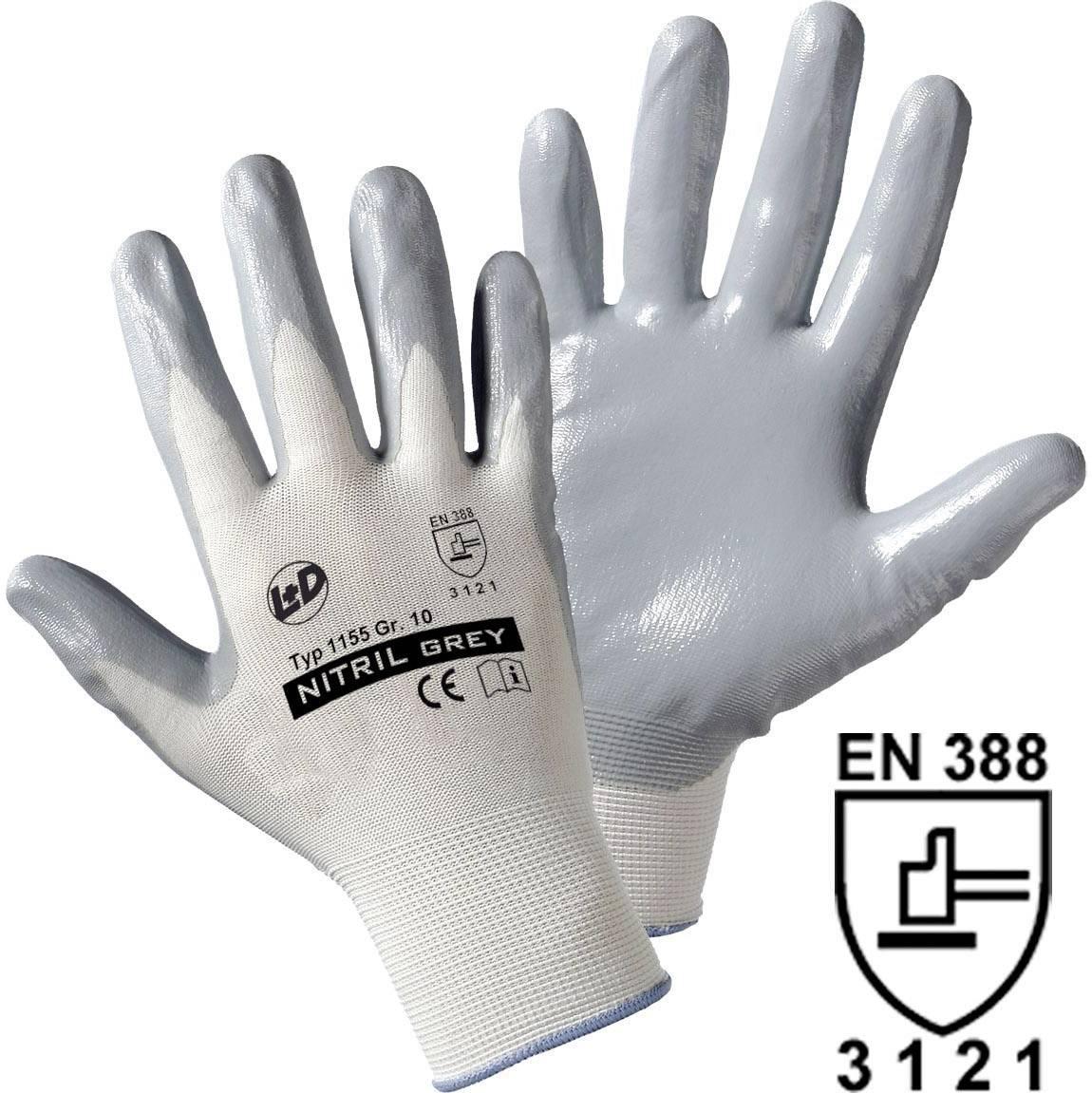 Pracovné rukavice worky Nitril- knitted 1155, velikost rukavic: 9, L