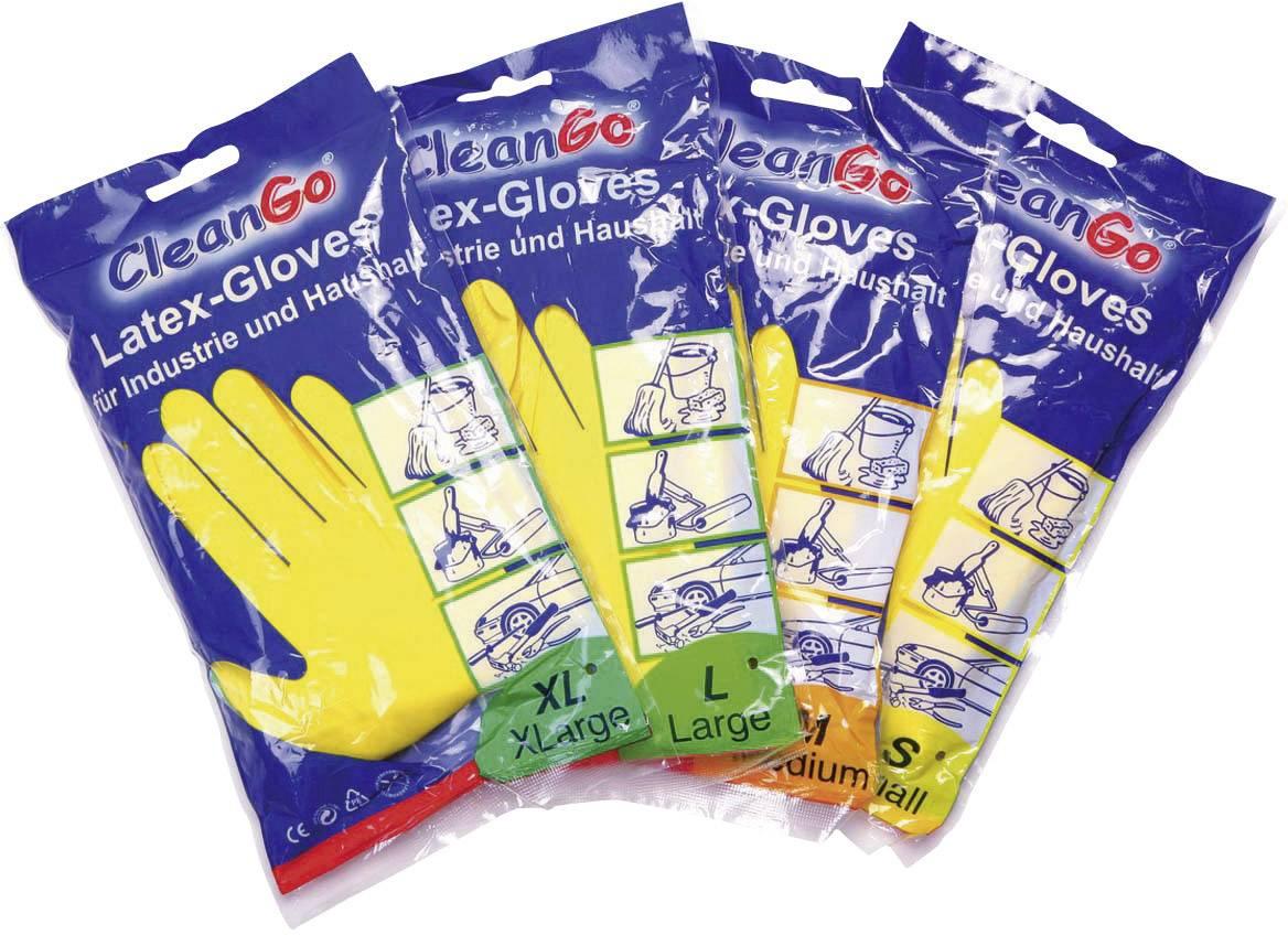 Úklidové rukavice, přírodní latex, velikost 10, žlutá