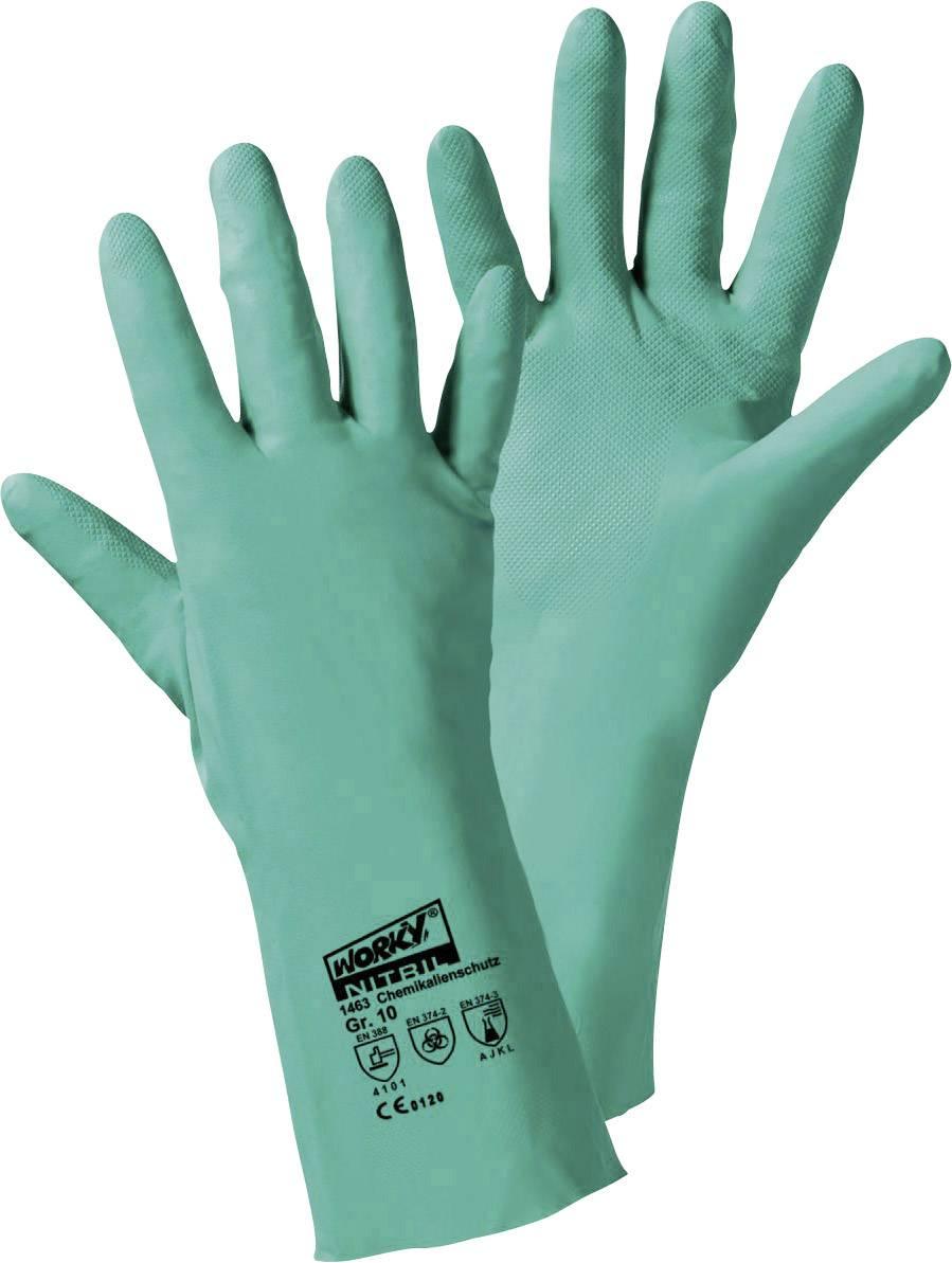 Rukavice pro manipulaci s chemikáliemi L+D Kemi 1463, nitril, velikost rukavic: 9, L