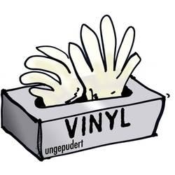 L+D 14695 Jednorázové vinylové rukavice bez pudru 100 ks