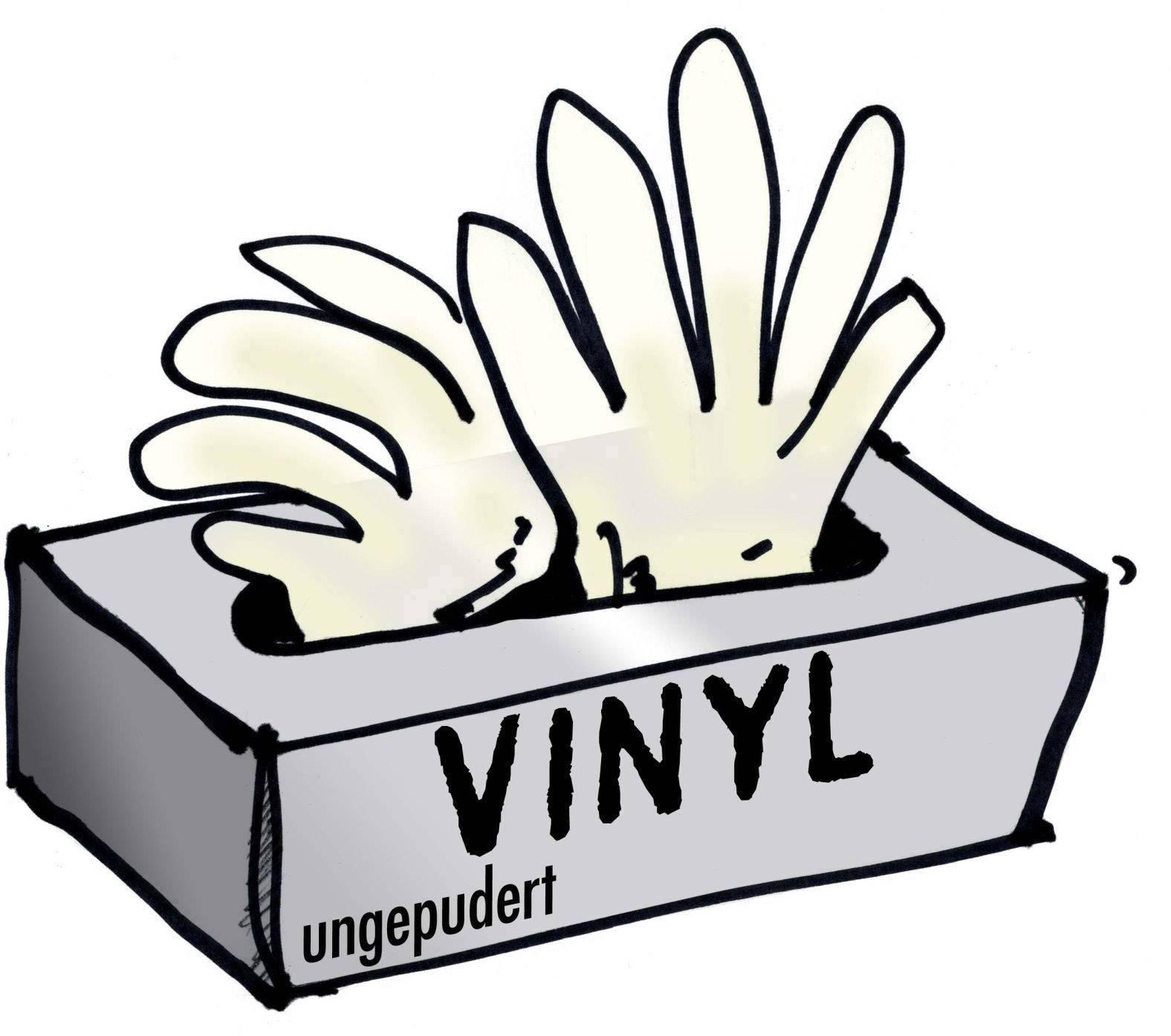 Leipold + Döhle 14695 Jednorázové vinylové rukavice bez pudru 100 ks