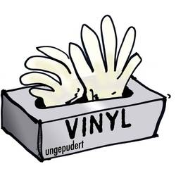 Rukavice vinylové, jedorázové, transparentní,100 ks, velikos