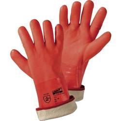 Zimní PVC rukavice, jasně oranžové, velikost UNI