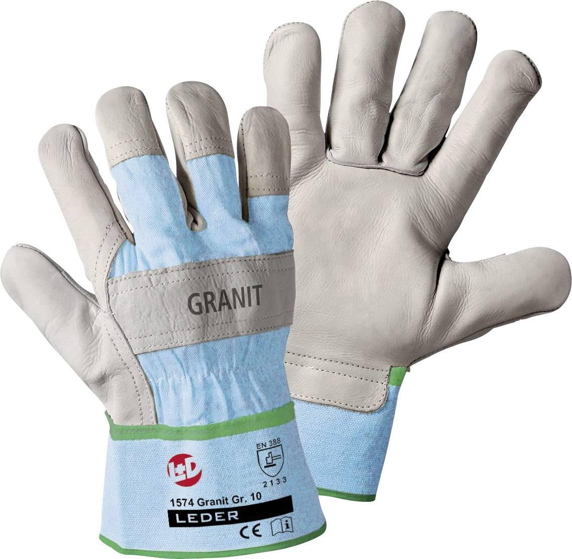 Pracovní rukavice z kovězí kůže, velikost 10