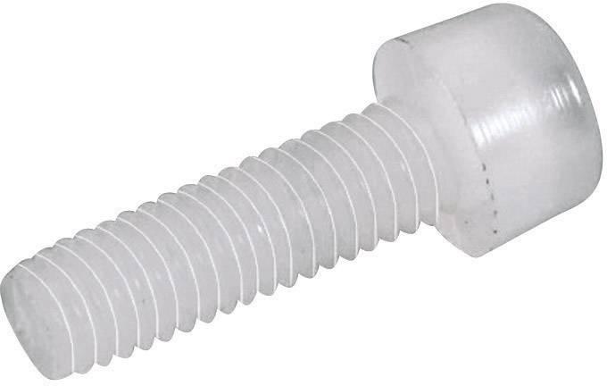 Skrutky s valcovou hlavou TOOLCRAFT 830325, N/A, M6, 20 mm, umelá hmota, polyamid, 10 ks