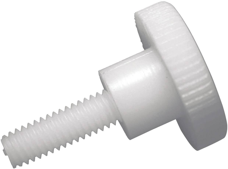 Ryhovaná skrutka TOOLCRAFT 830387, DIN 464, M4, 10 mm, umelá hmota, polyamid, 10 ks