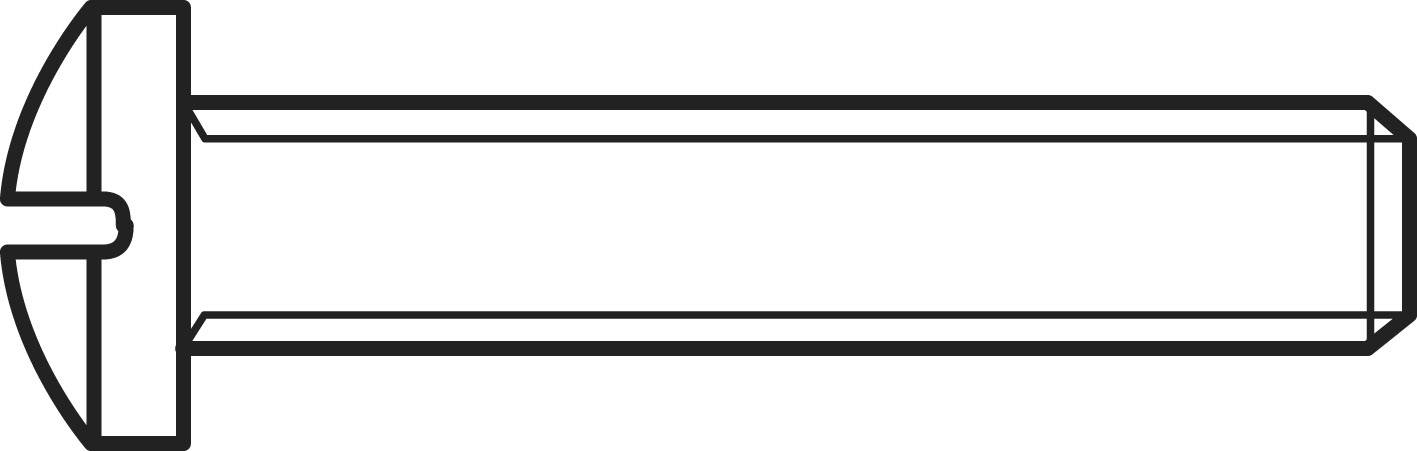 Šrouby s čočkovitou hlavou s křížovou drážkou TOOLCRAFT, DIN 7985, M2 X 20, 100 ks