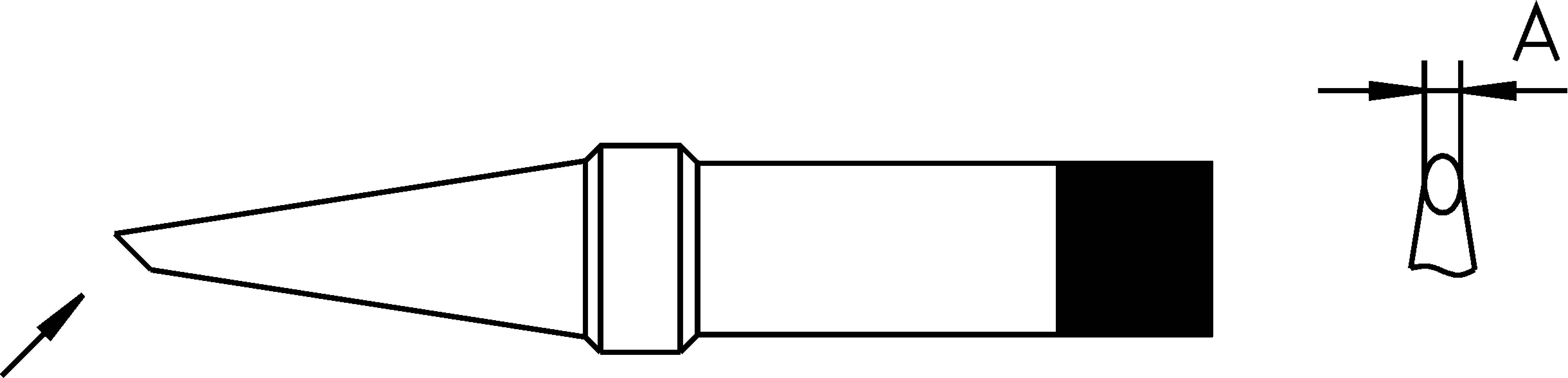 Pájecí hrot Weller 4PTF7-1, 1,2 mm