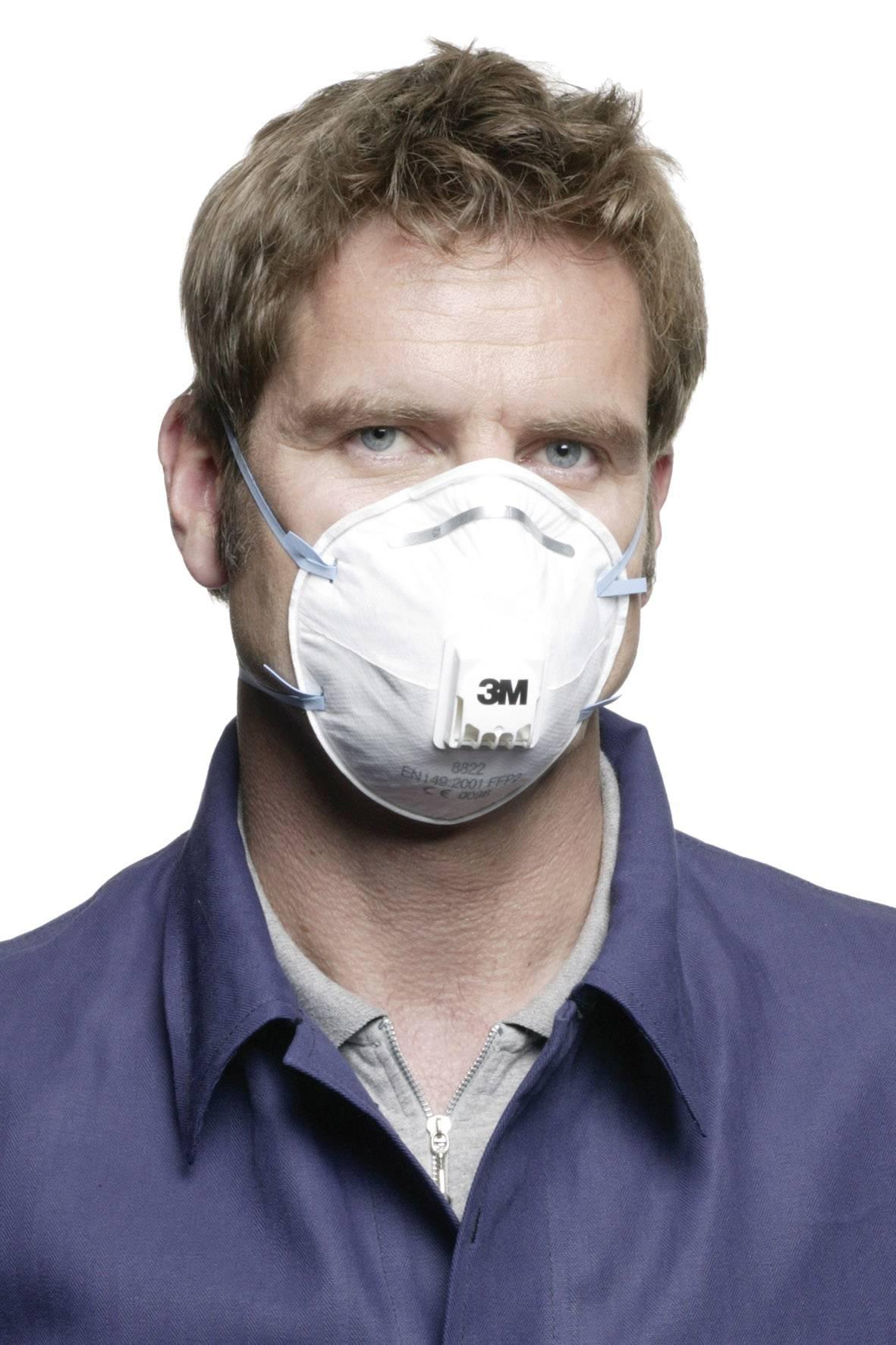 Respirátor proti jemnému prachu, s ventilom 3M 8822, 10 ks