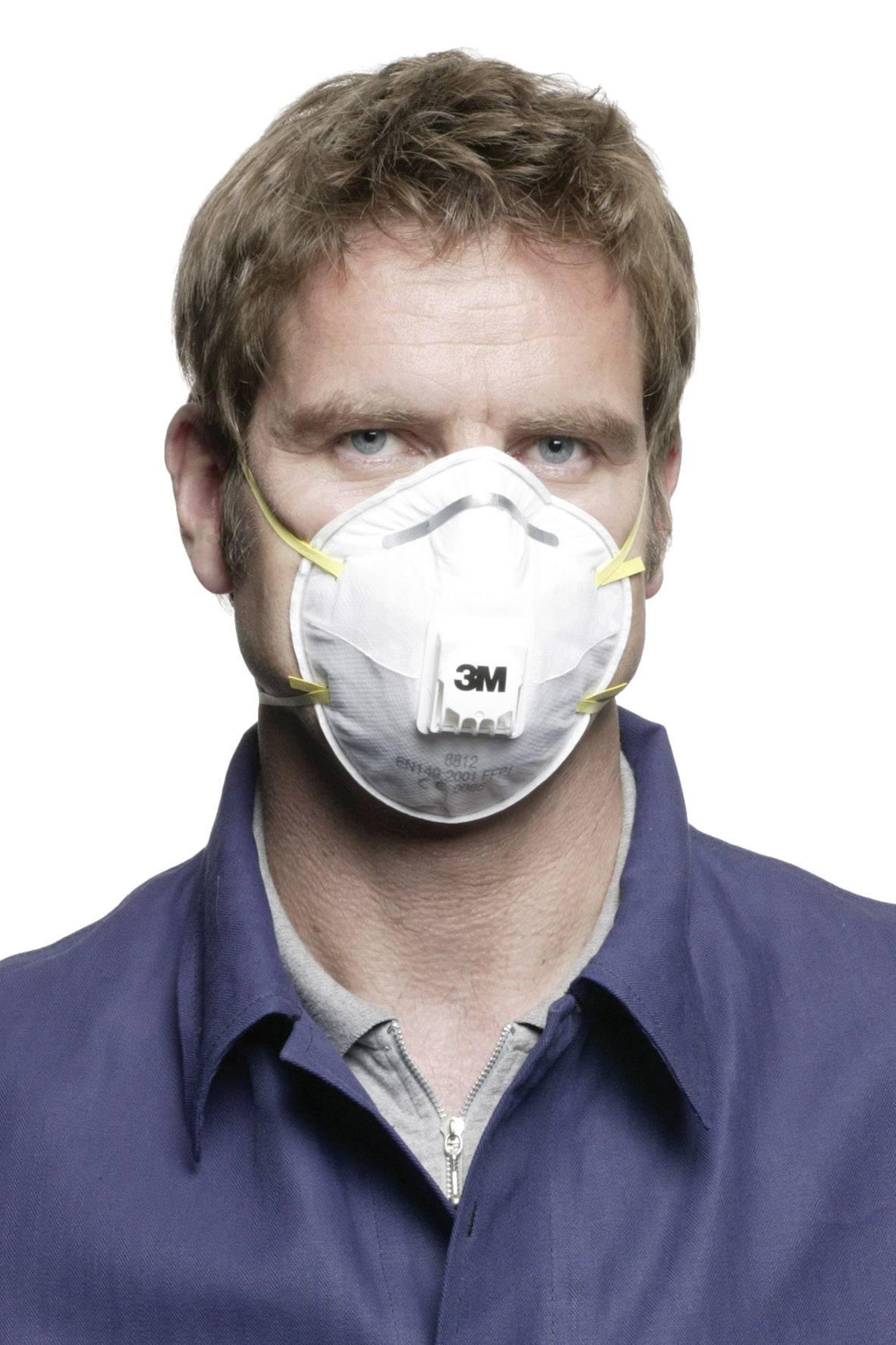 Respirátor proti jemnému prachu, s ventilom 3M 8812, 10 ks