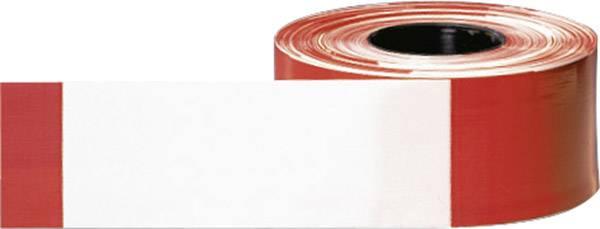 Výstražná páska, 500 m/80 mm, červenobílá
