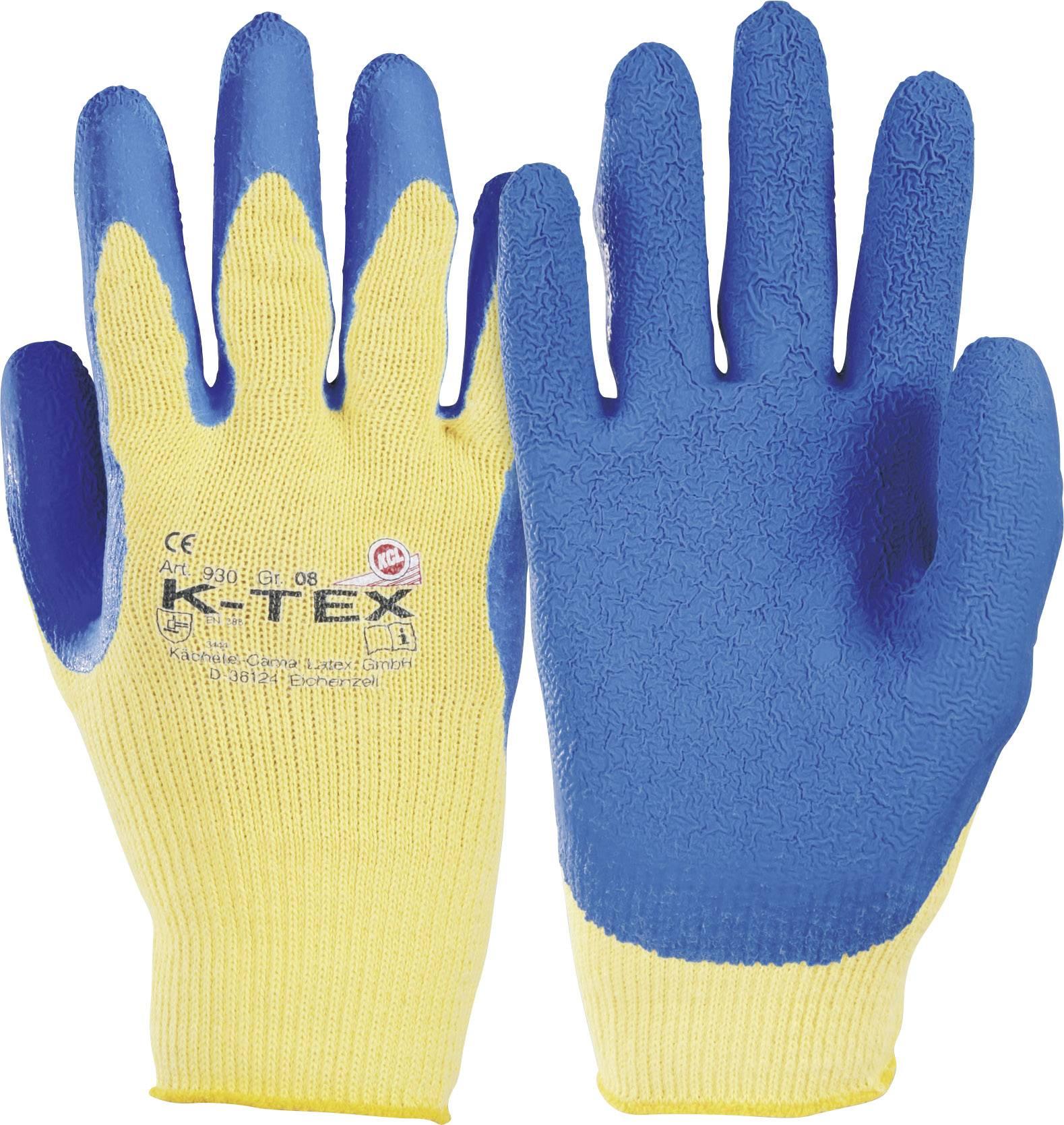 Rukavice K-TEXR z Para-Aramidového vlákna s přírodní latexovou vrtvou, velikost 8