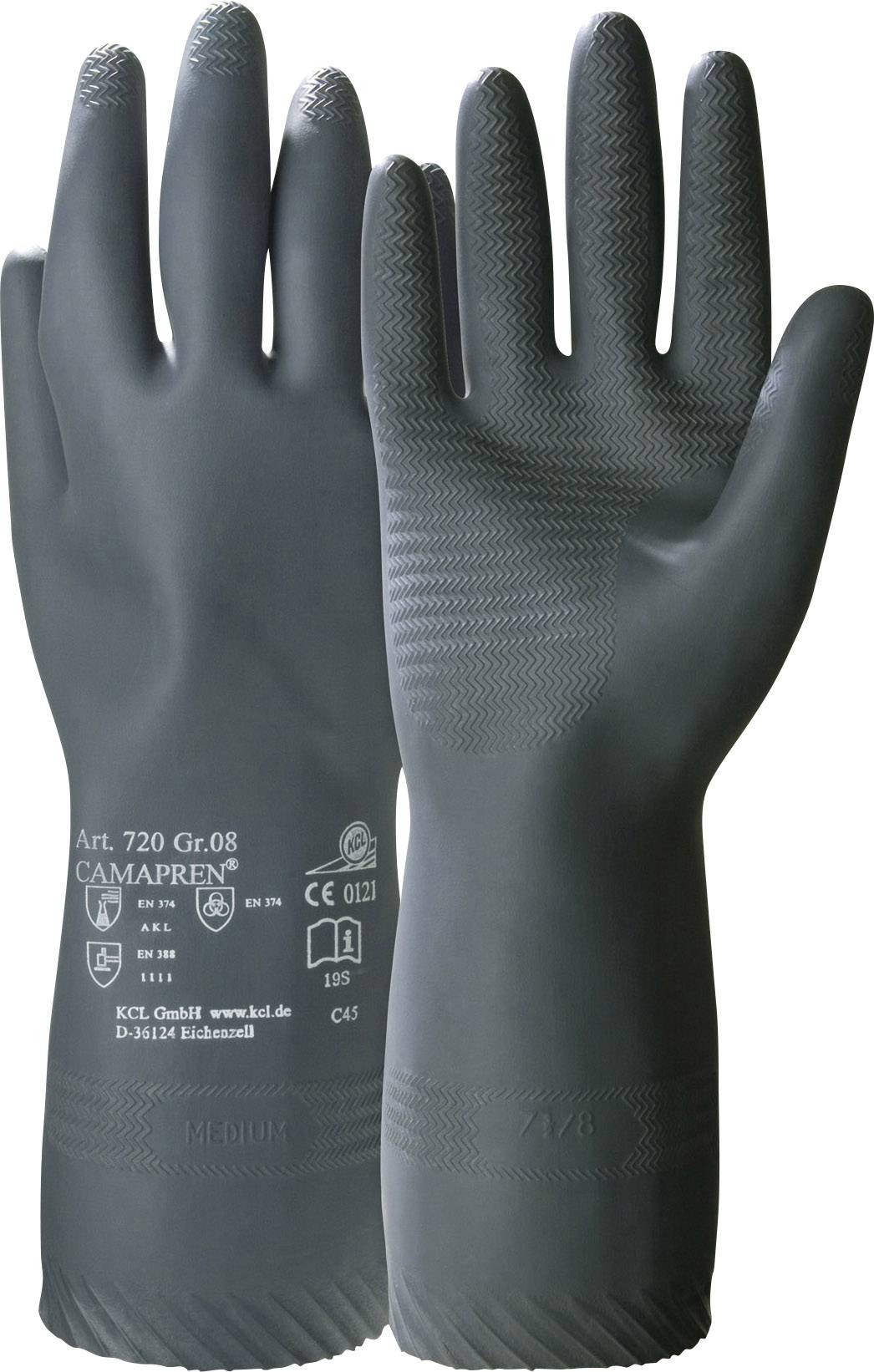 Rukavice pro manipulaci s chemikáliemi KCL Camapren® 720, Chloropren, velikost rukavic: 9, L