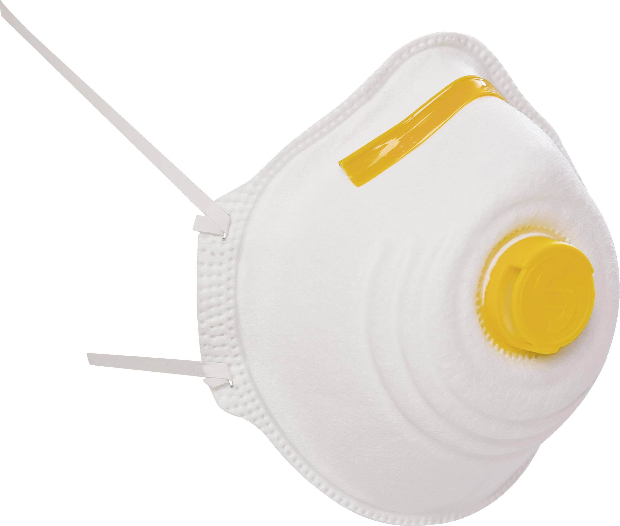 Respirátor proti jemnému prachu, s ventilom EKASTU Sekur 411 381, 12 ks