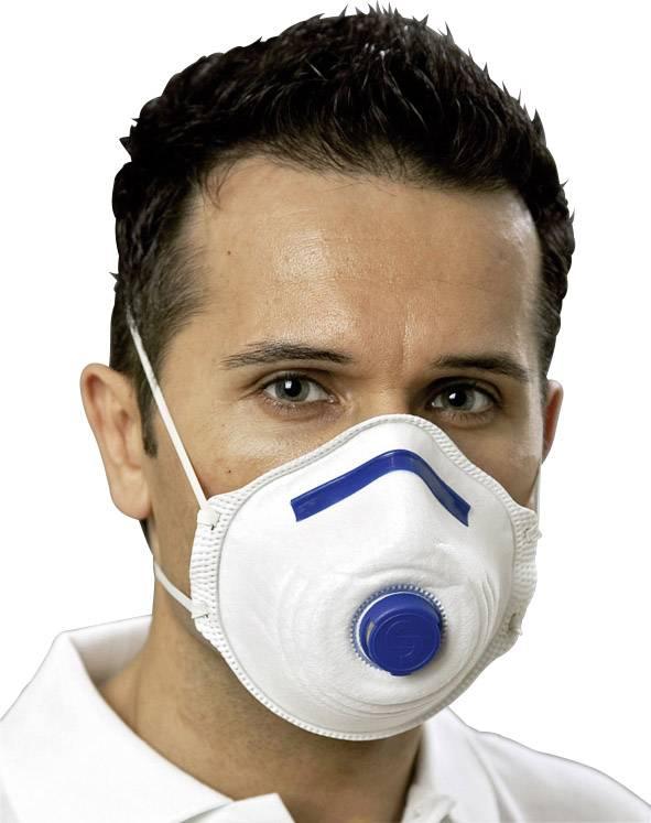 Respirátor proti jemnému prachu, s ventilom EKASTU Sekur 411 281, 12 ks
