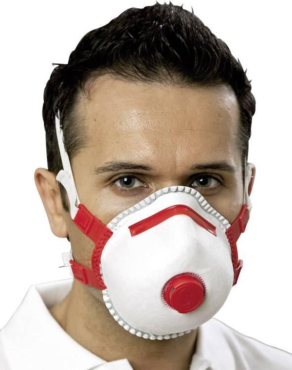 Respirátor proti jemnému prachu, s ventilom EKASTU Sekur 412 183, 5 ks