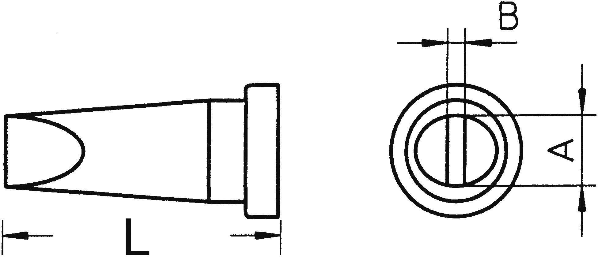 Spájkovací hrot dlátová forma, rovná Weller Professional LT-B, velikost hrotu 2.4 mm, 1 ks