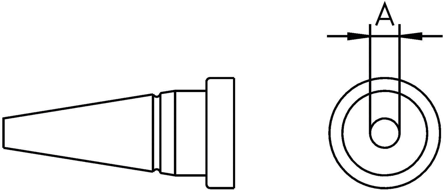 Spájkovací hrot okrúhla forma Weller Professional LT-AS, velikost hrotu 1.6 mm, 1 ks