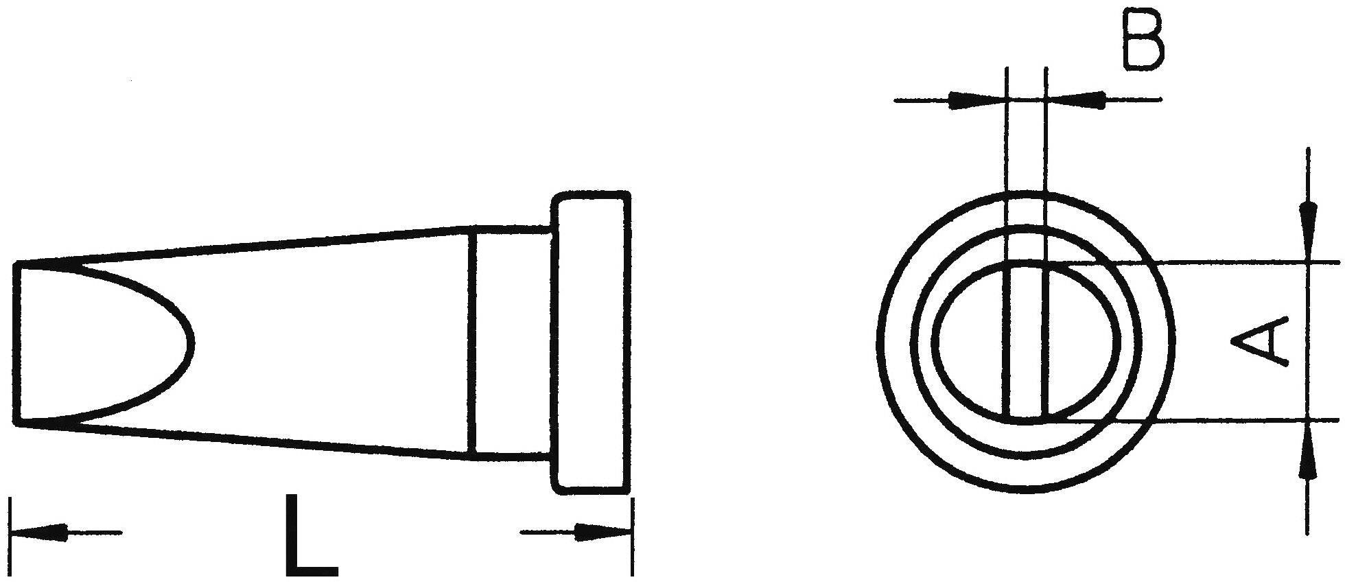 Spájkovací hrot dlátová forma, rovná Weller Professional LT-H, velikost hrotu 0.8 mm, 1 ks