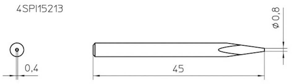 Spájkovací hrot ihlová forma Weller Professional 4SPI15213-1, velikost hrotu 0.8 mm, 1 ks