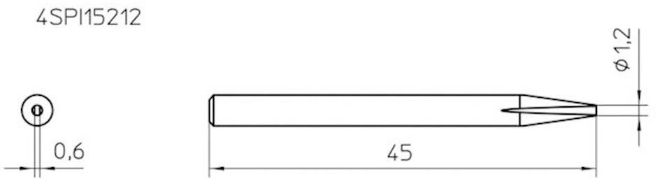 Spájkovací hrot dlátová forma Weller Professional 4SPI15212-1, velikost hrotu 1.2 mm, 1 ks