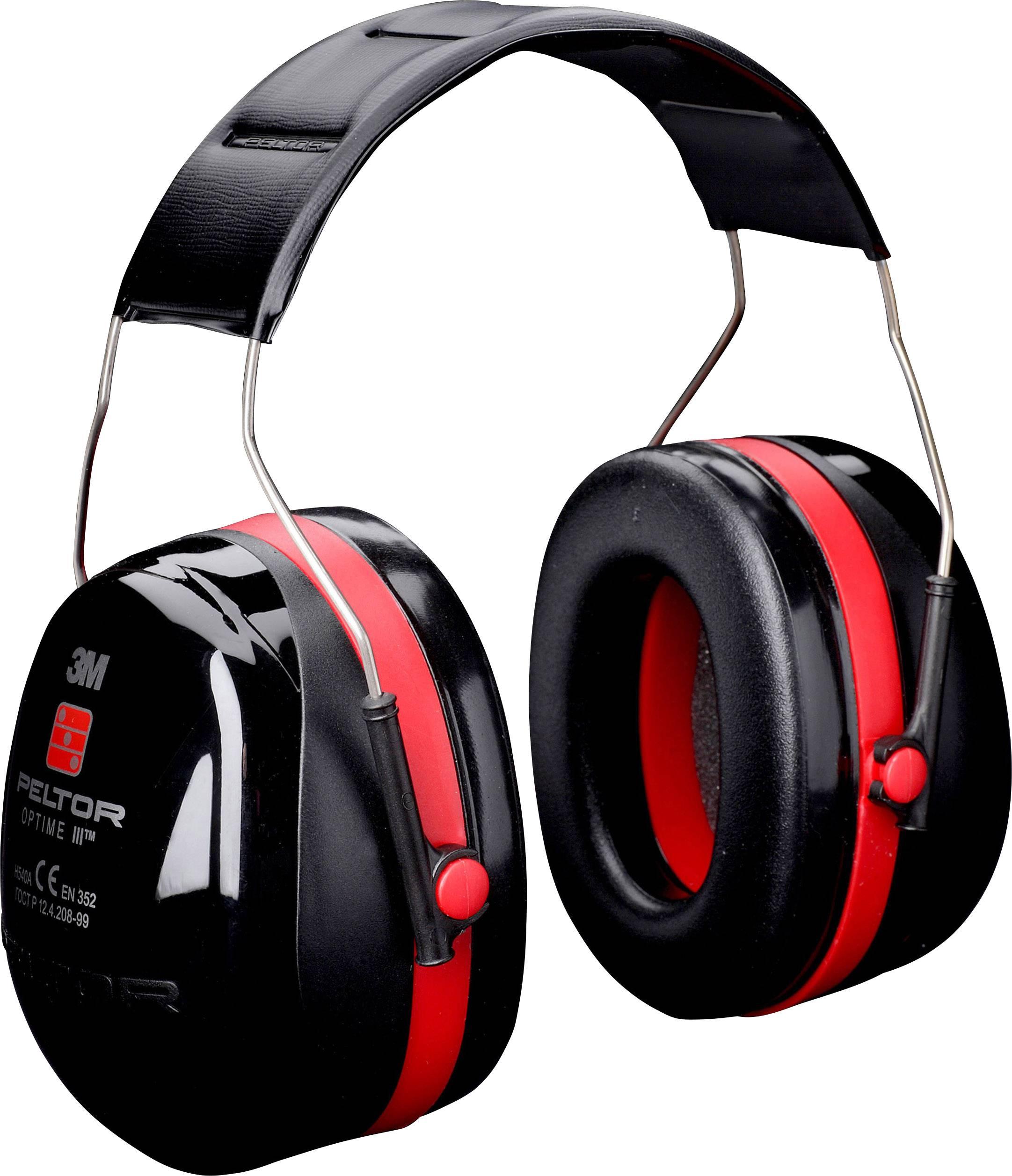 Mušľové chrániče sluchu Peltor, červená/čierna