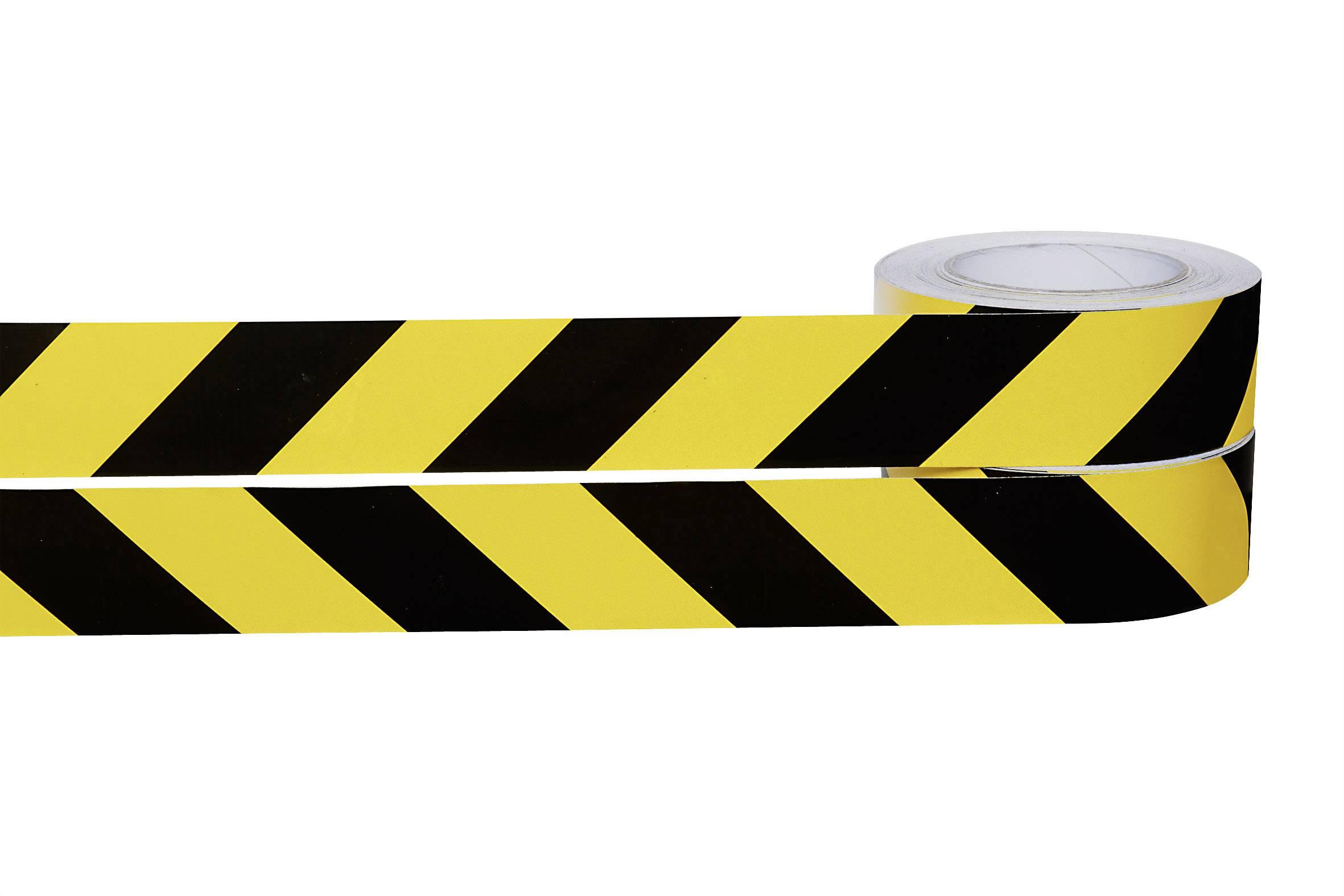 Výstražné značení, žlutočerné role 25 m/50 mm