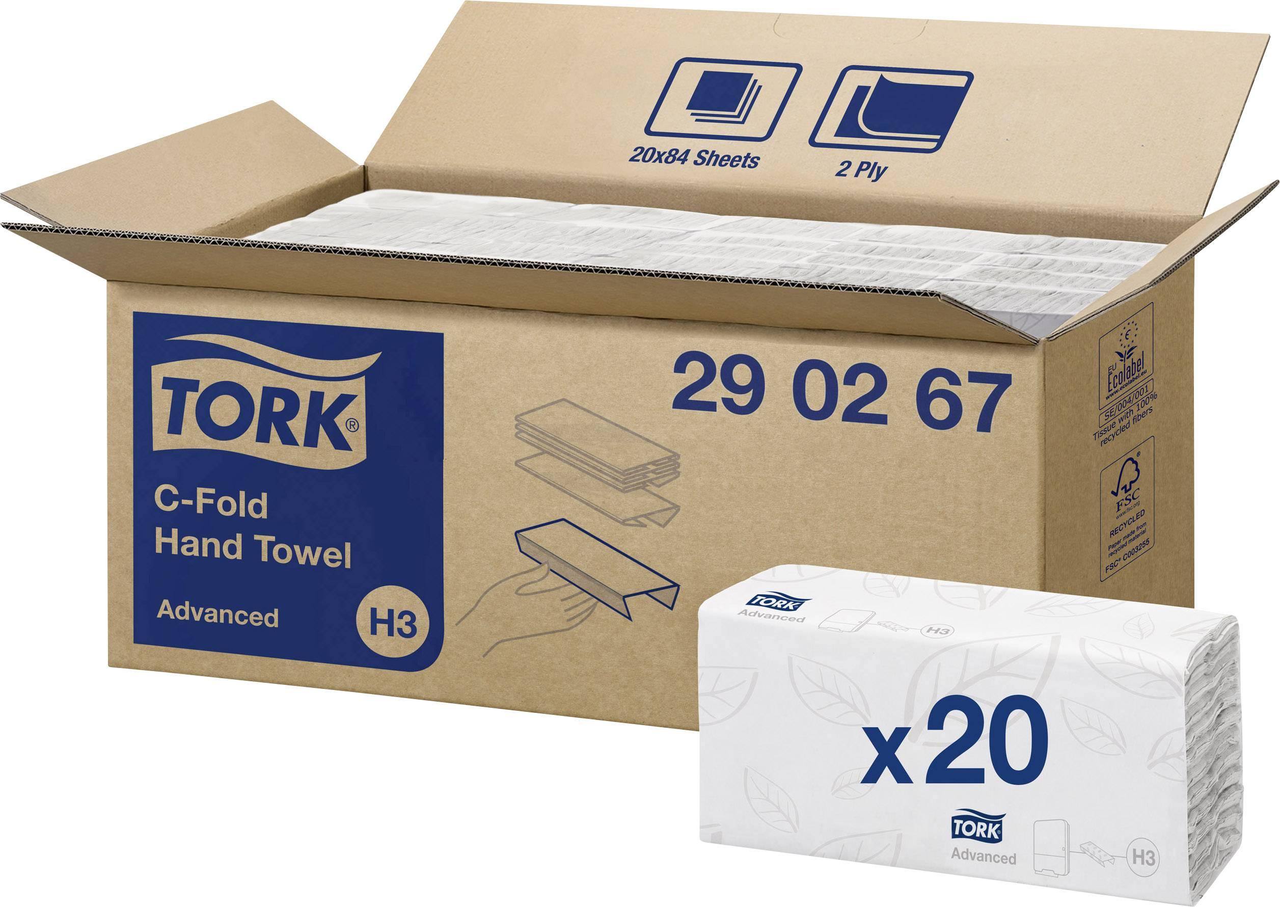 Papierové utierky, skladané TORK Advanced 290267, 1680 ks/balenie