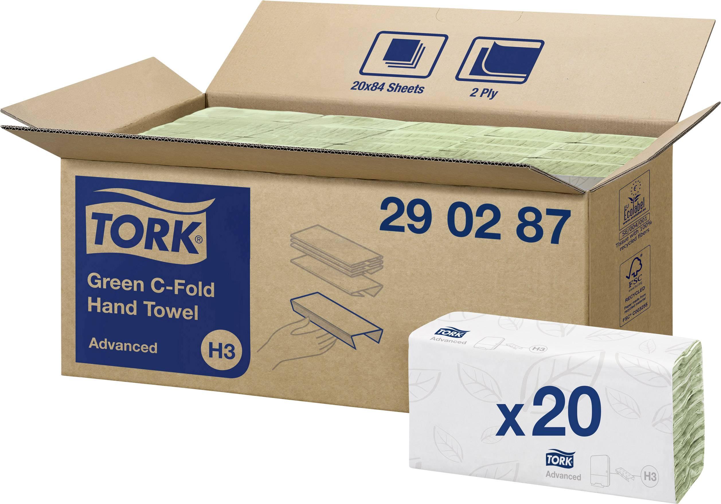 Papierové utierky, skladané TORK Advanced 290287, 1680 ks/balenie