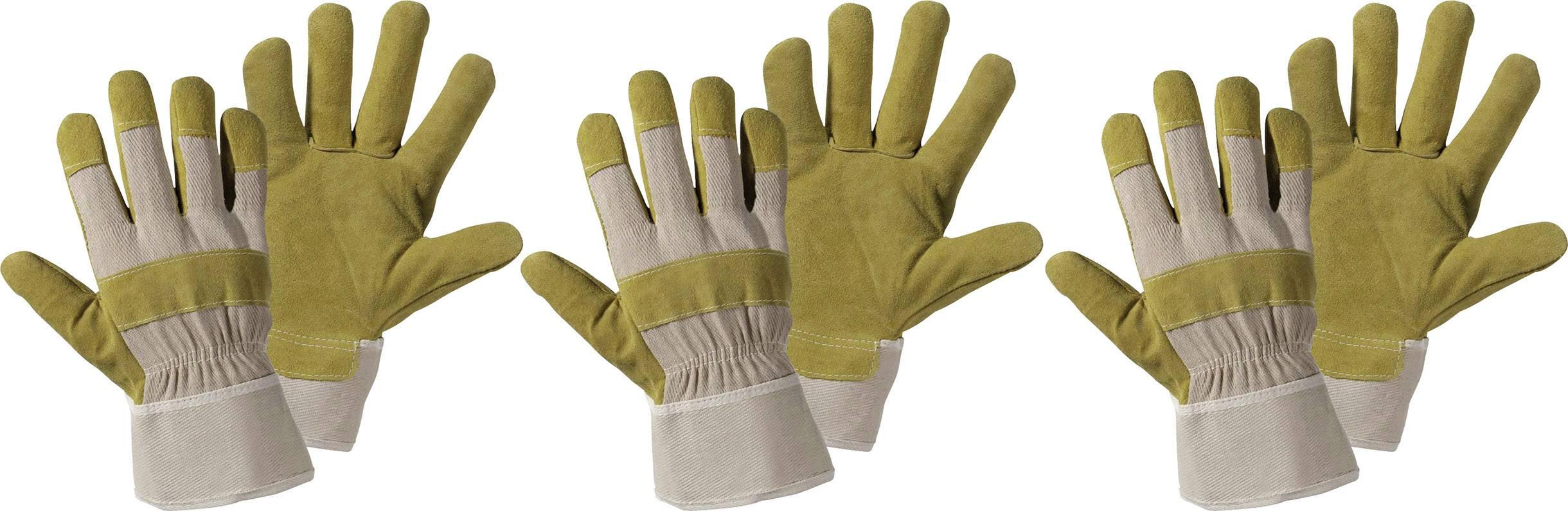 Pracovní rukavice z veppřové kůže, velikost 10,5, 3 páry