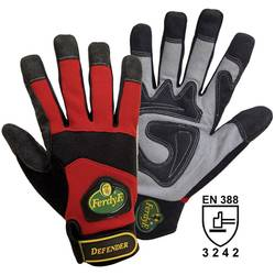 Pracovní rukavice, syntetická kůže, velikost L (9), červené