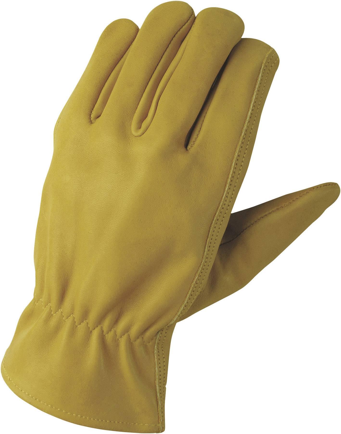 Montážní rukavice FerdyF. CONDUCTOR 1610, Lícová přírodní useň, velikost rukavic: 7, S