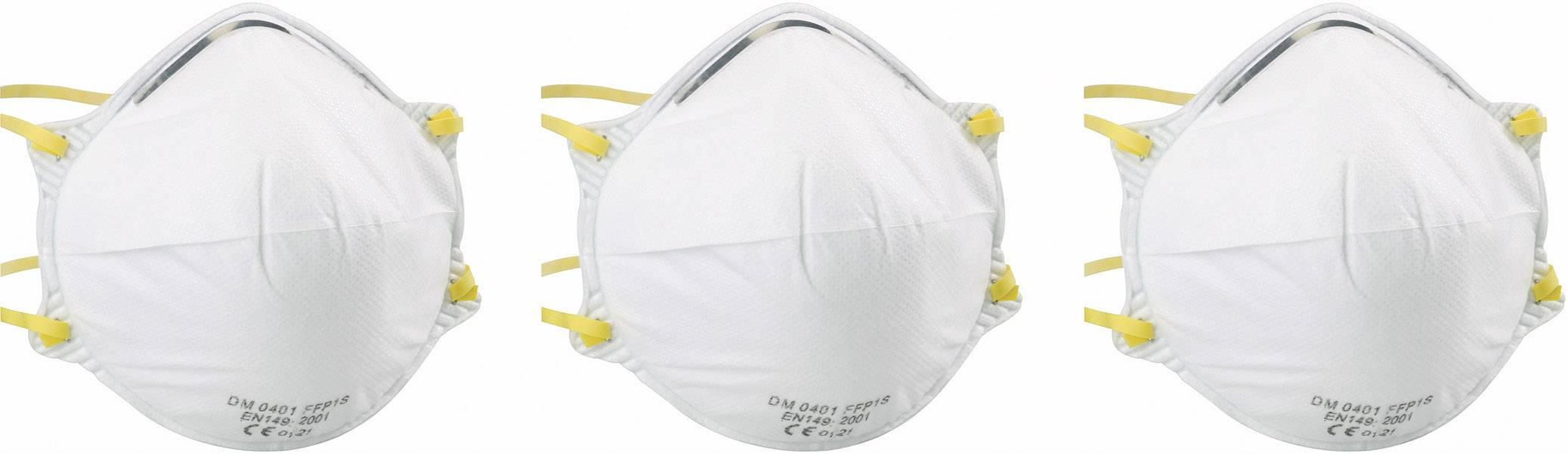 Respirátor proti jemnému prachu EKASTU Sekur FFP1, 3 ks