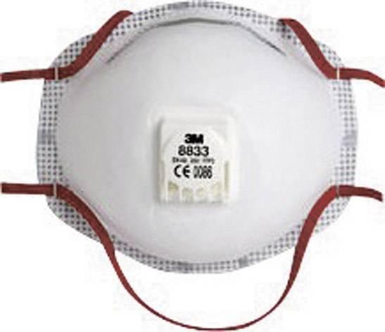 Respirátor proti jemnému prachu, s ventilom 3M 8833, 10 ks