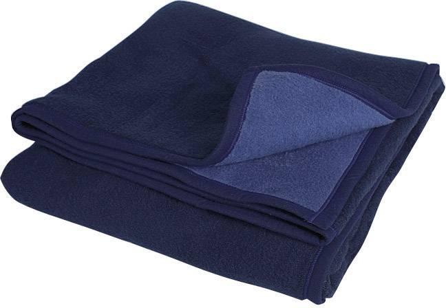 Vlněná deka Rostock Söhngen tmavě modrá, světle modrá