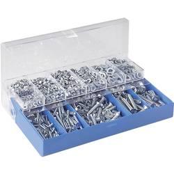 Sada šroubů se zápustnou hlavou a vnitřním šestihranem, DIN7991 + DIN125 + DIN934, 1000 ks