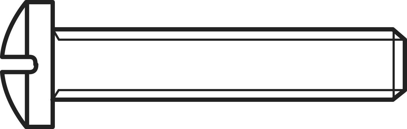 Šrouby s čočkovitou hlavou s křížovou drážkou TOOLCRAFT, DIN 7985, M4 x 25, 100 ks