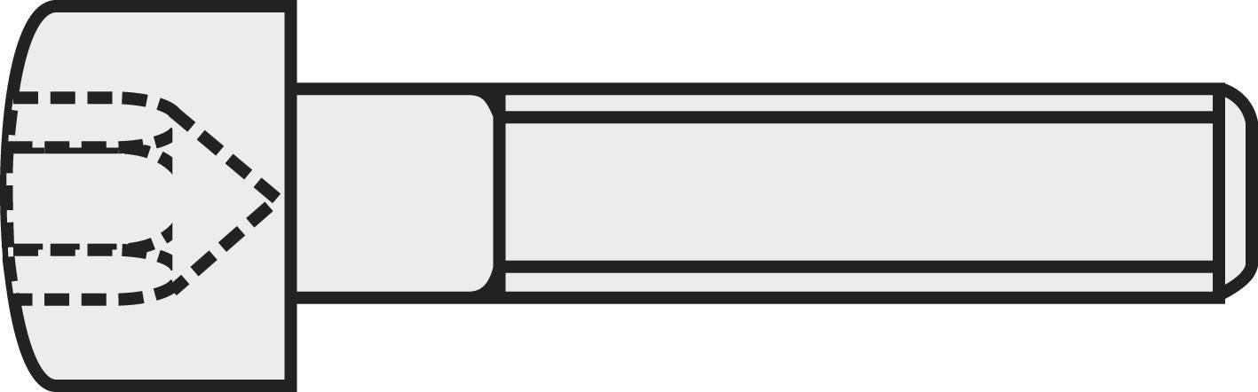 Šroub s válcovou hlavou a vnitřním šestihranem TOOLCRAFT, M2 x 5 mm, černá, 20 ks