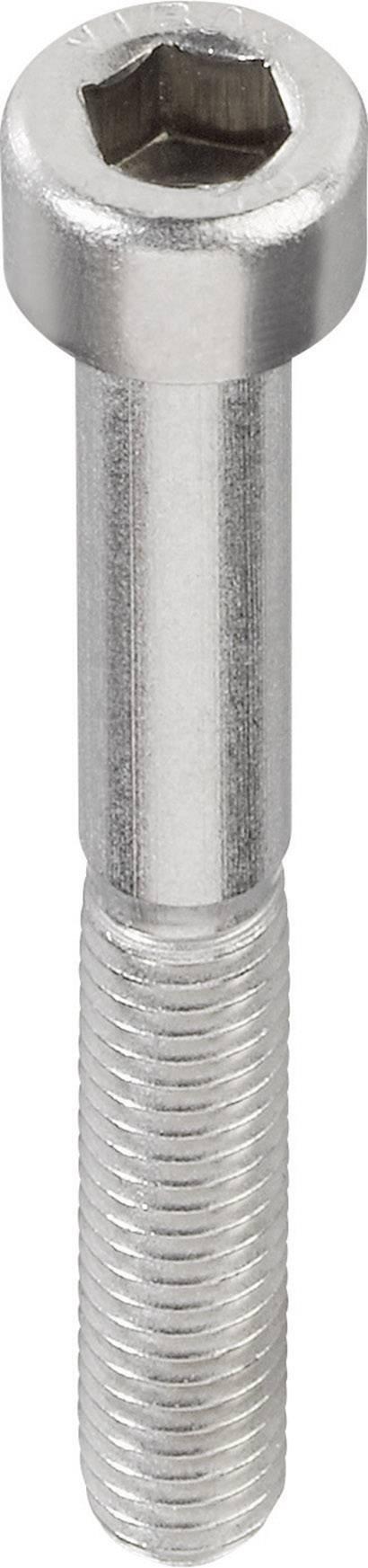 Šrouby s válcovou hlavou TOOLCRAFT 839699, vnitřní šestihran, M2.5, 20 mm, nerezová ocel, 20 ks
