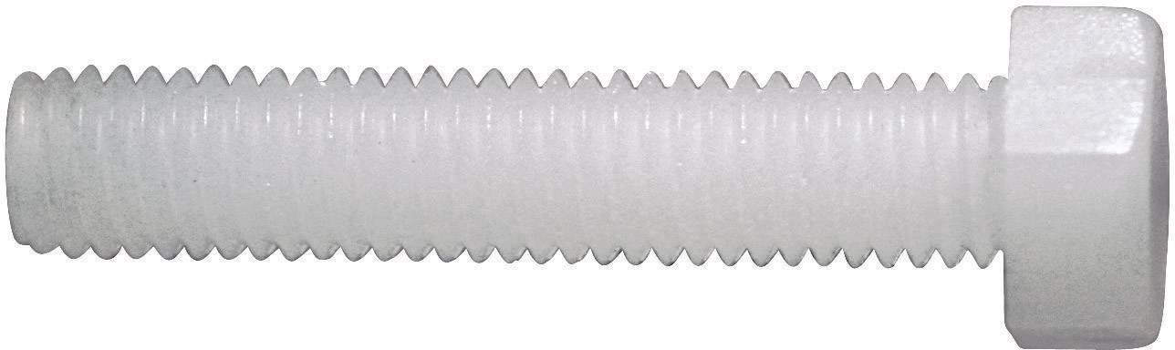 Šroub se šestihrannou hlavou Toolcraft, M6, 40 mm, vnější šestihran, plast